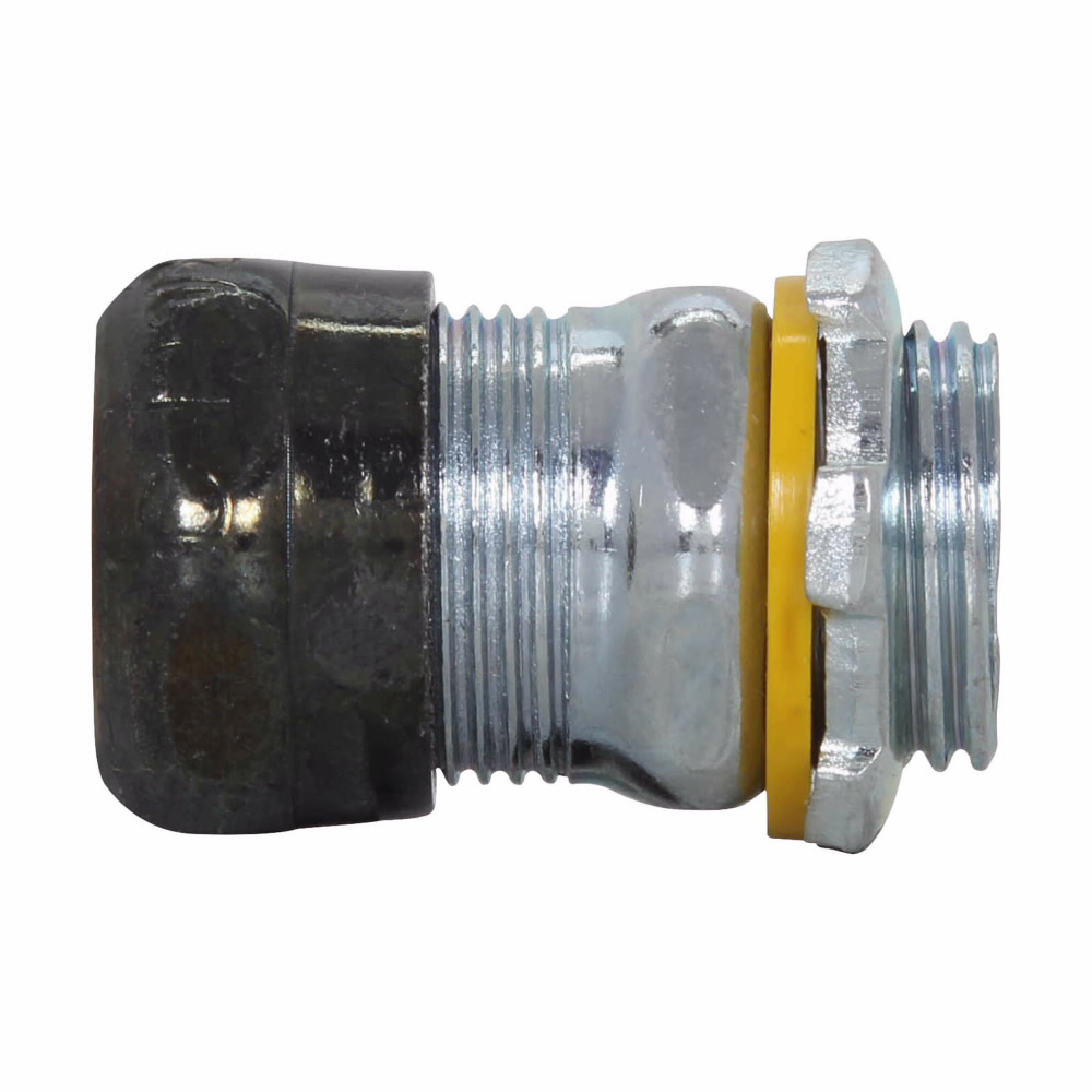Crouse-Hinds Series 659RT 4 Inch Steel Non-Insulated Raintight Compression Straight EMT Connector