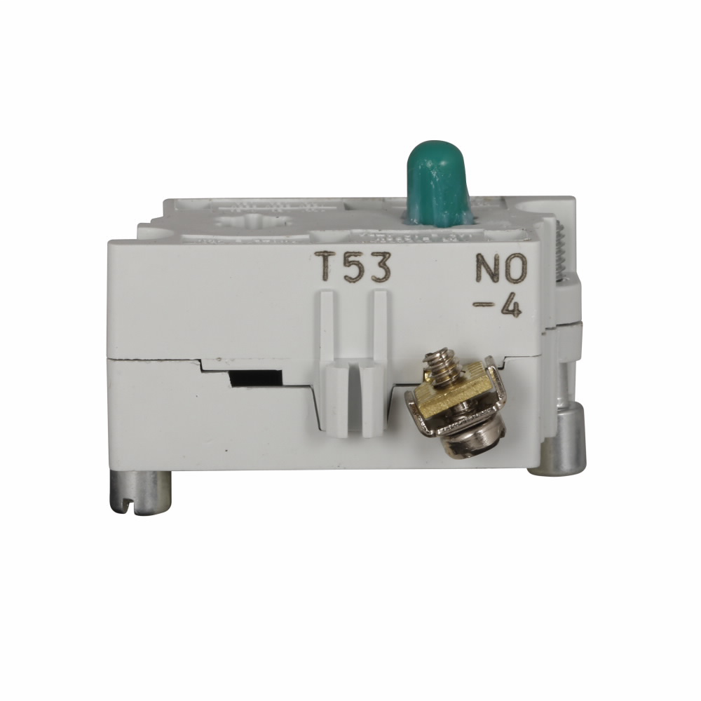Eaton Electrical 10250T53 30.5 mm 600 VAC 10 Amp 1NO Pressure Terminal Silver Standard Finger Proof Push Button Contact Block