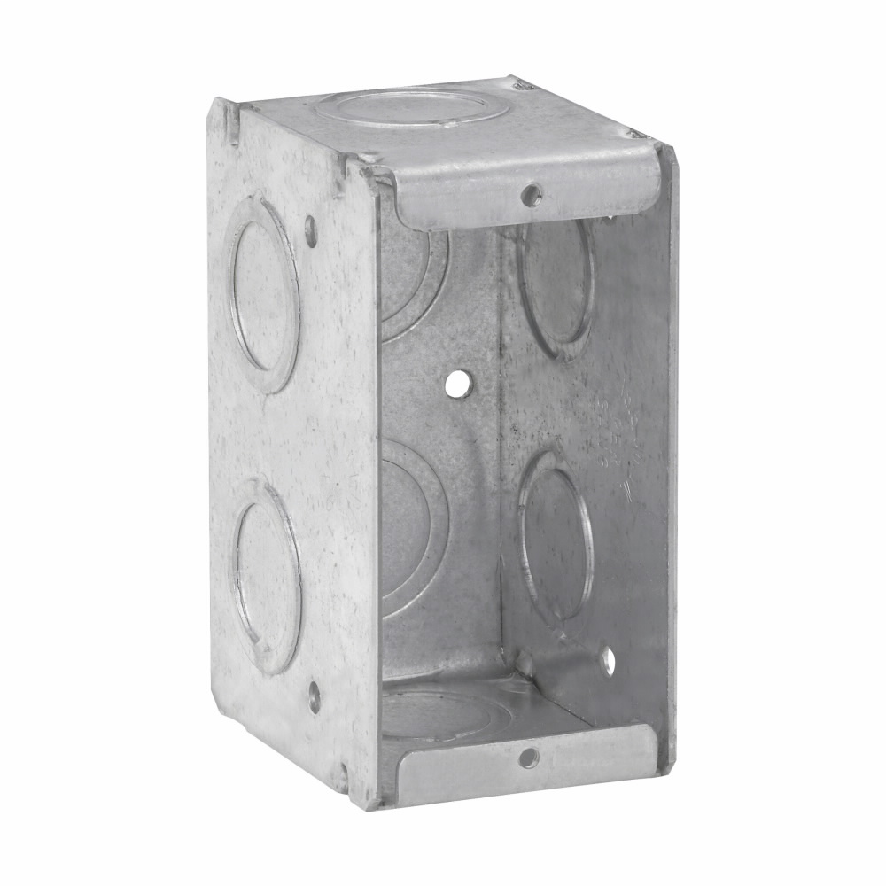 Crouse-Hinds Series TP682 1-5/16 x 2-1/2 x 3-3/4 Inch Steel 1-Gang Masonry Box