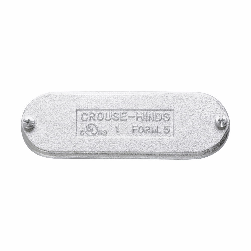 Crouse-Hinds Series K125CM 1-1/4 Inch Cast Aluminum Form5 Conduit Blank Cover