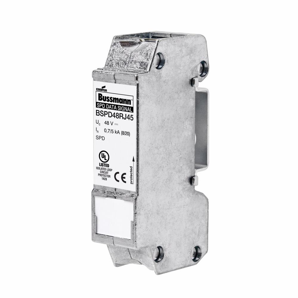 Eaton Bussmann BSPD48RJ45 48 Volt Din Rail Surge Protection Device