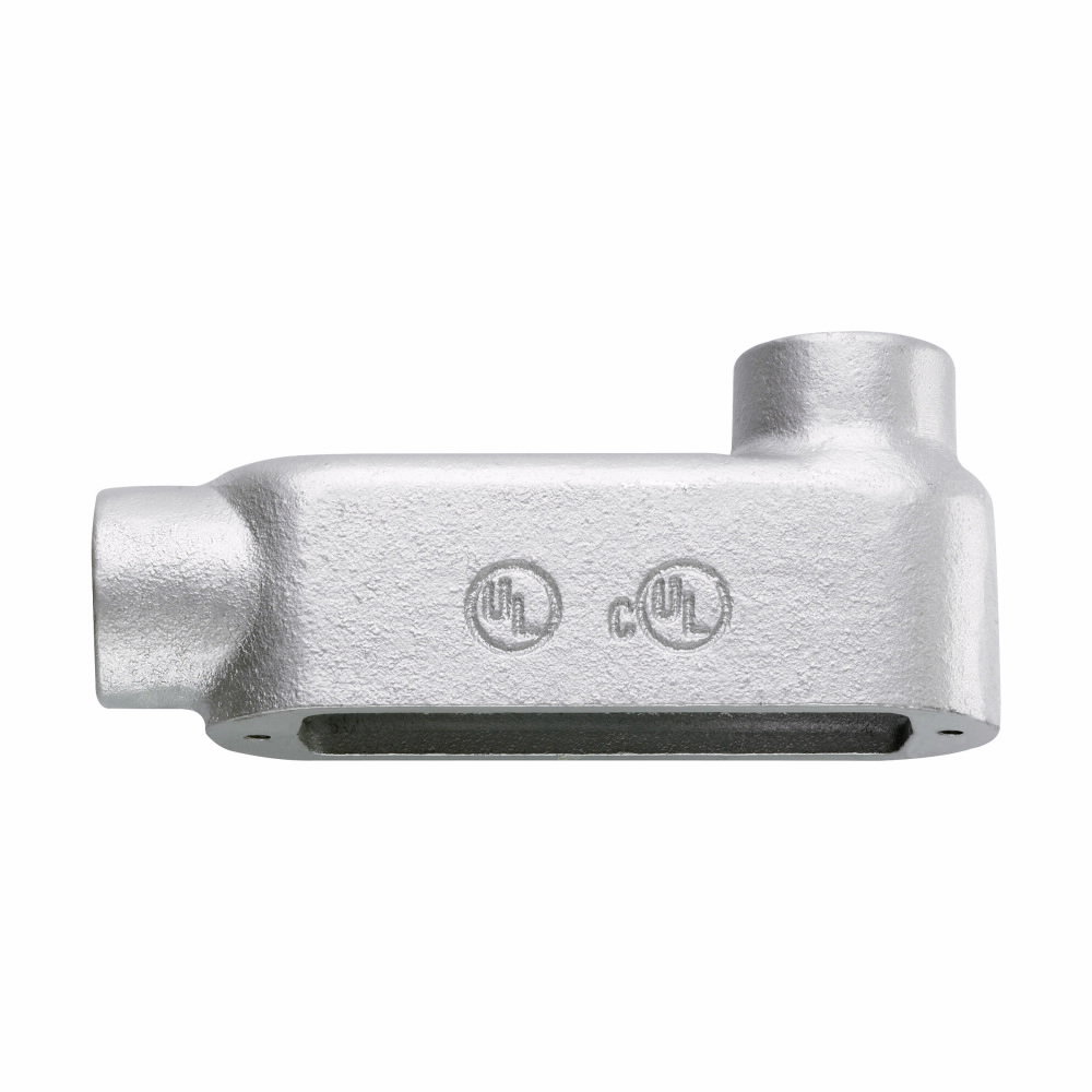Crouse-Hinds Series LB125M CG 1-1/4 Inch Malleable Iron Form5 Type LB Threaded Rigid Conduit Body and Cover with Gasket