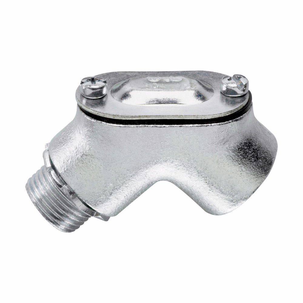 Crouse-Hinds Series 810 1/2 Inch Malleable Iron Male to Female 90 Degrees Rigid Conduit/Box Pull Elbow