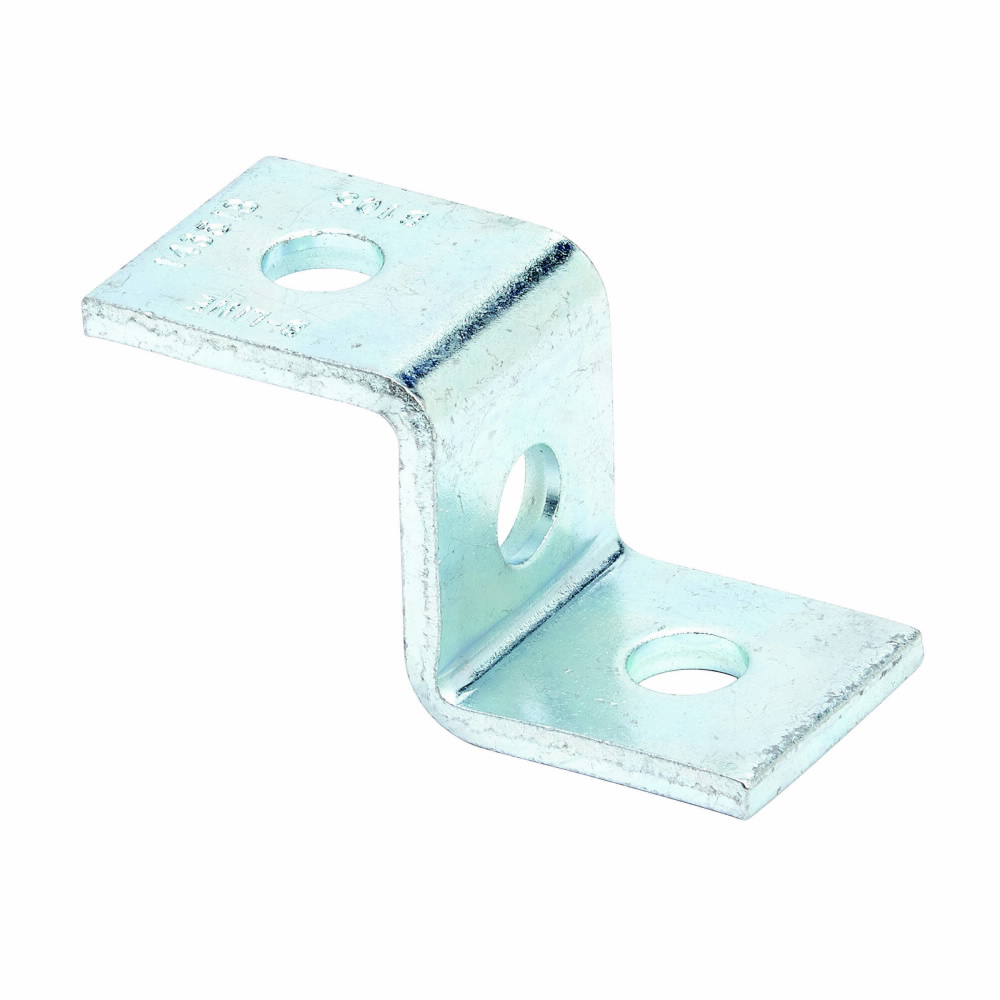 B-Line Series B105ZN 3-Hole Z-Support for B22 Zinc Plated Channel