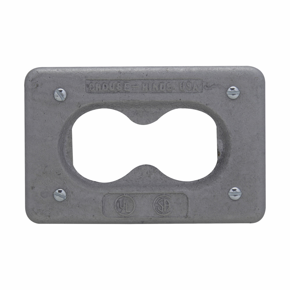 Crouse-Hinds Series DS23G 1-Gang Cast Iron Alloy Surface/Flush Mount Duplex Receptacle Cover