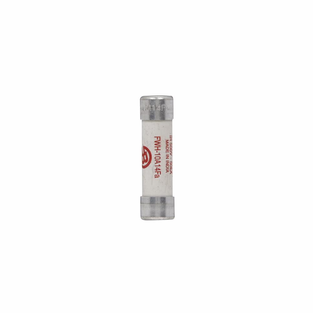 Eaton Bussmann series FWH high speed fuse, 1000 Vac, 800 Vdc, 10A, 200 kAIC Vac, 50 kAIC at 500 Vdc, Non Indicating, High speed fuse, Ferrule end X ferrule end