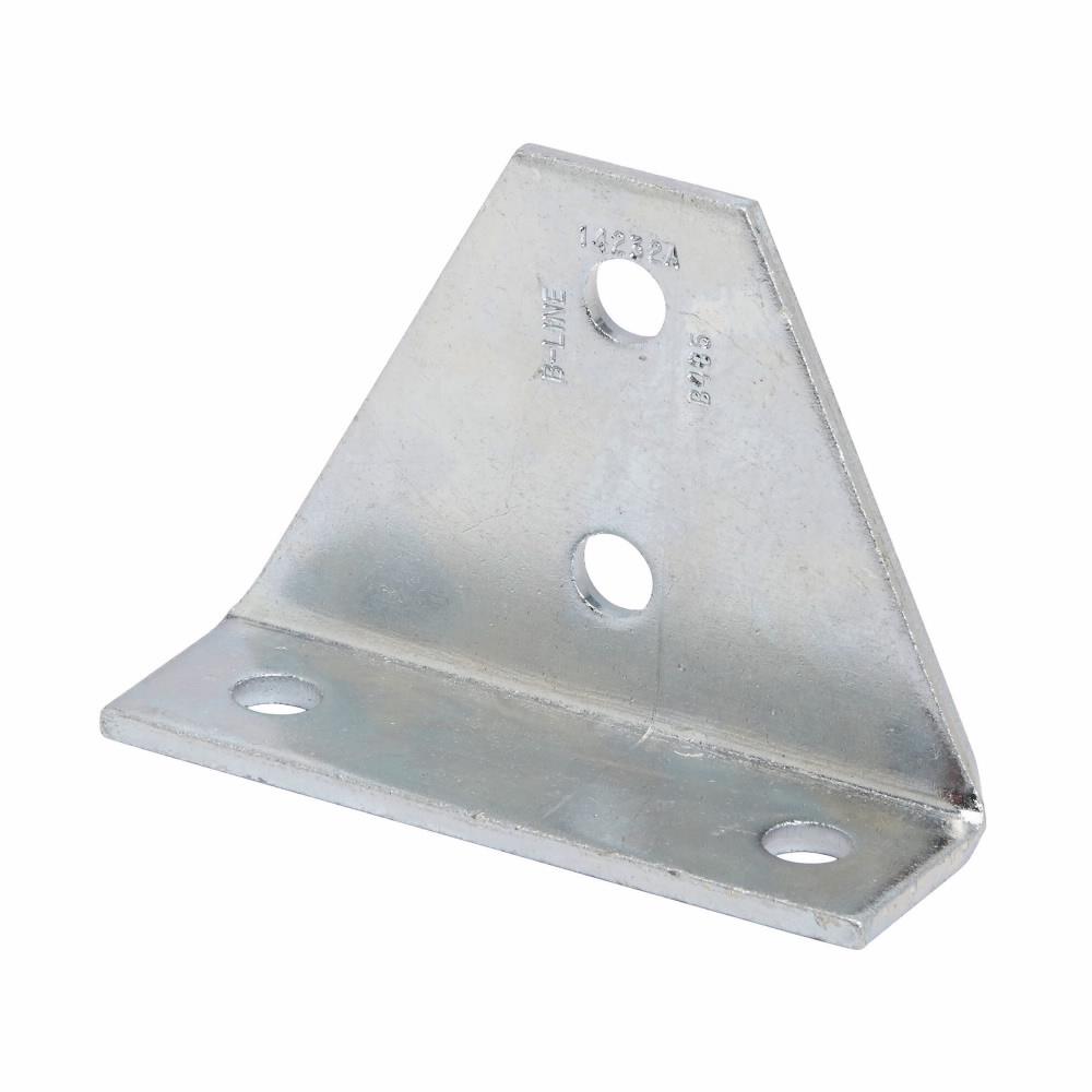 B-Line Series B485ZN 4-Hole Zinc Plated Gussetted Shelf Angle