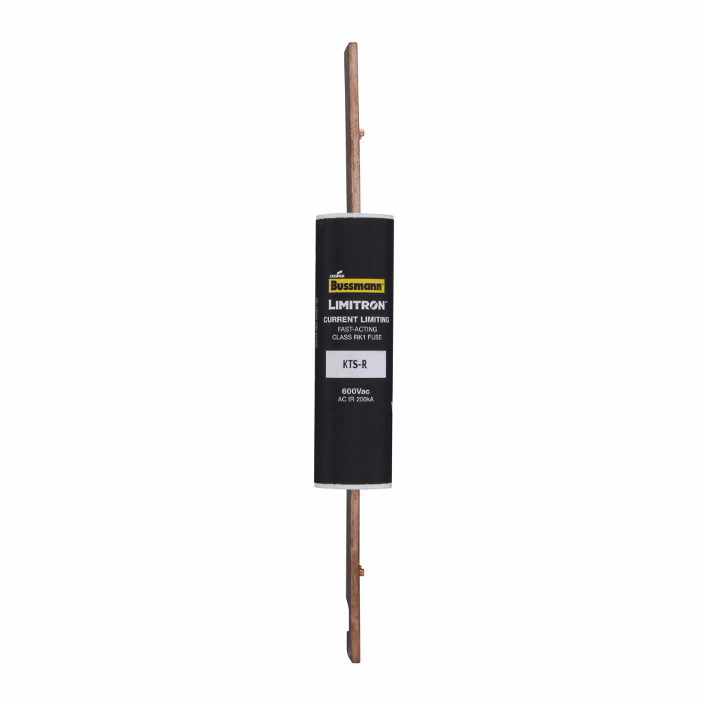 Eaton Bussmann Series KTS-R Fuse, Current-limiting, Fast Acting Fuse, 70/30 brass end cap, 600V, 175A, 200 kAIC at 600 Vac, Class RK Blade end X blade end, Melamine glass tube, 1.5, Inch, Non Indicating