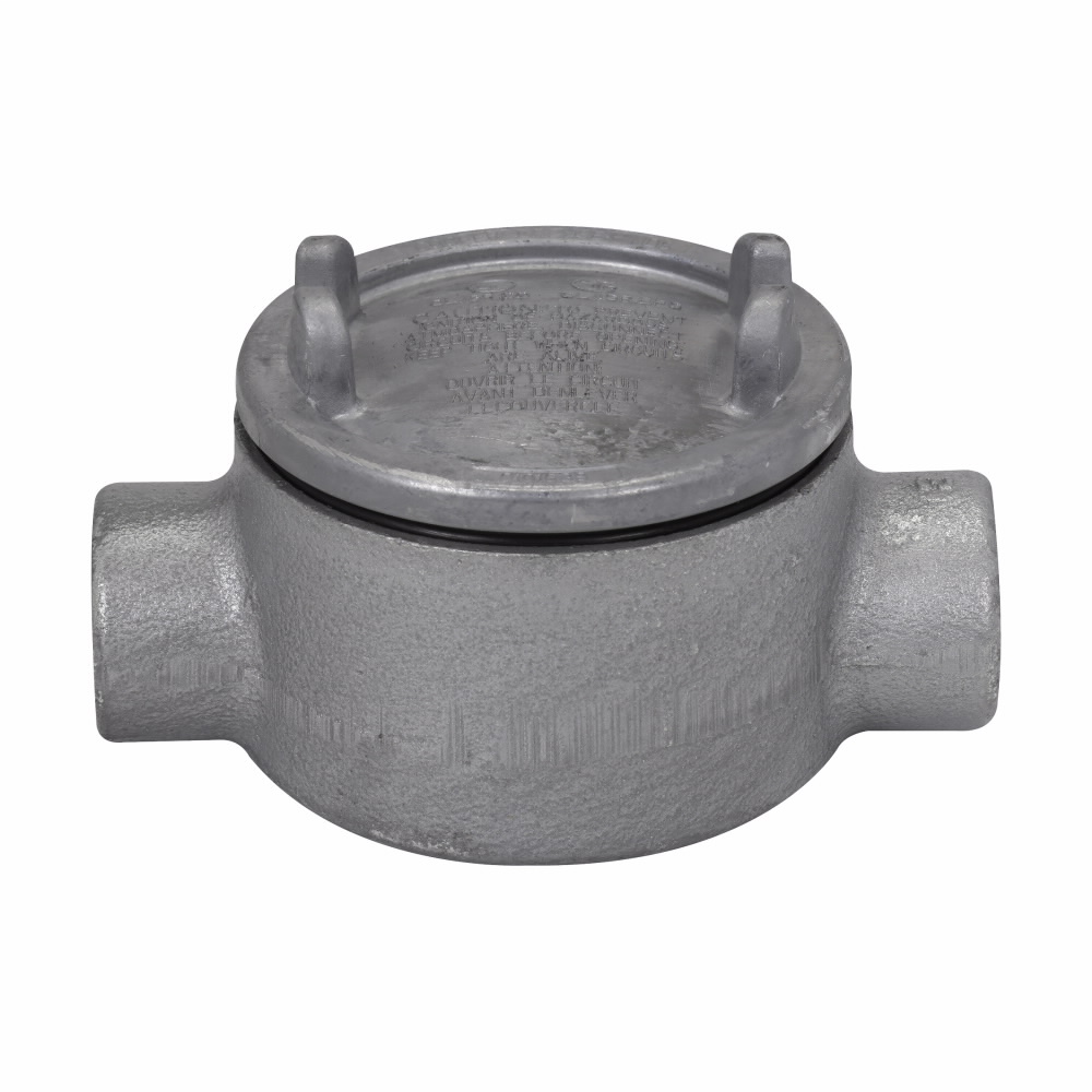 Crouse-Hinds Series GUAC69 SA 2 Inch Hub 5 Inch Cover Opening Copper Free Aluminum Conduit Outlet Box with Cover