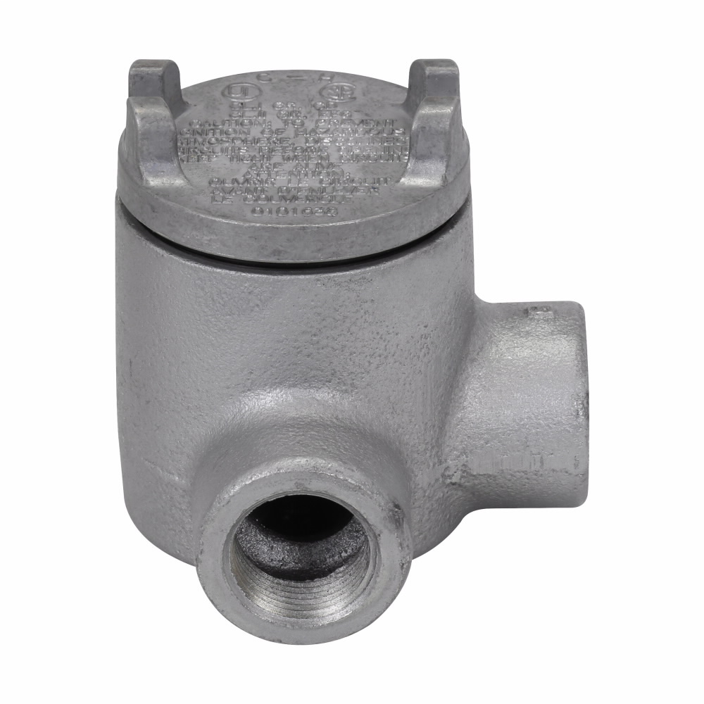 Crouse-Hinds Series GUAL16 1/2 Inch Hub 3 Inch Cover Opening Cast Iron Conduit Outlet Box with Cover