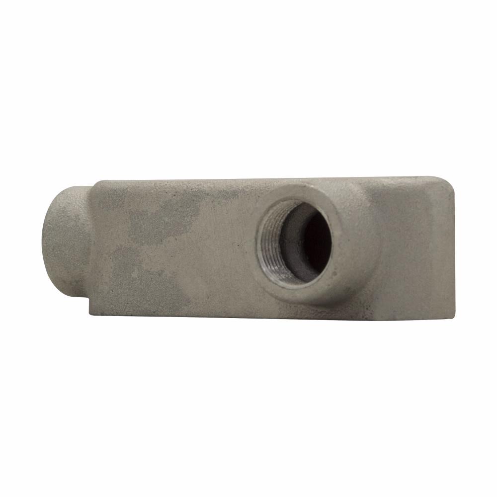 "Eaton Crouse-Hinds series Condulet Mark 9 conduit outlet body, Copper-free aluminum, LR shape, 3"""