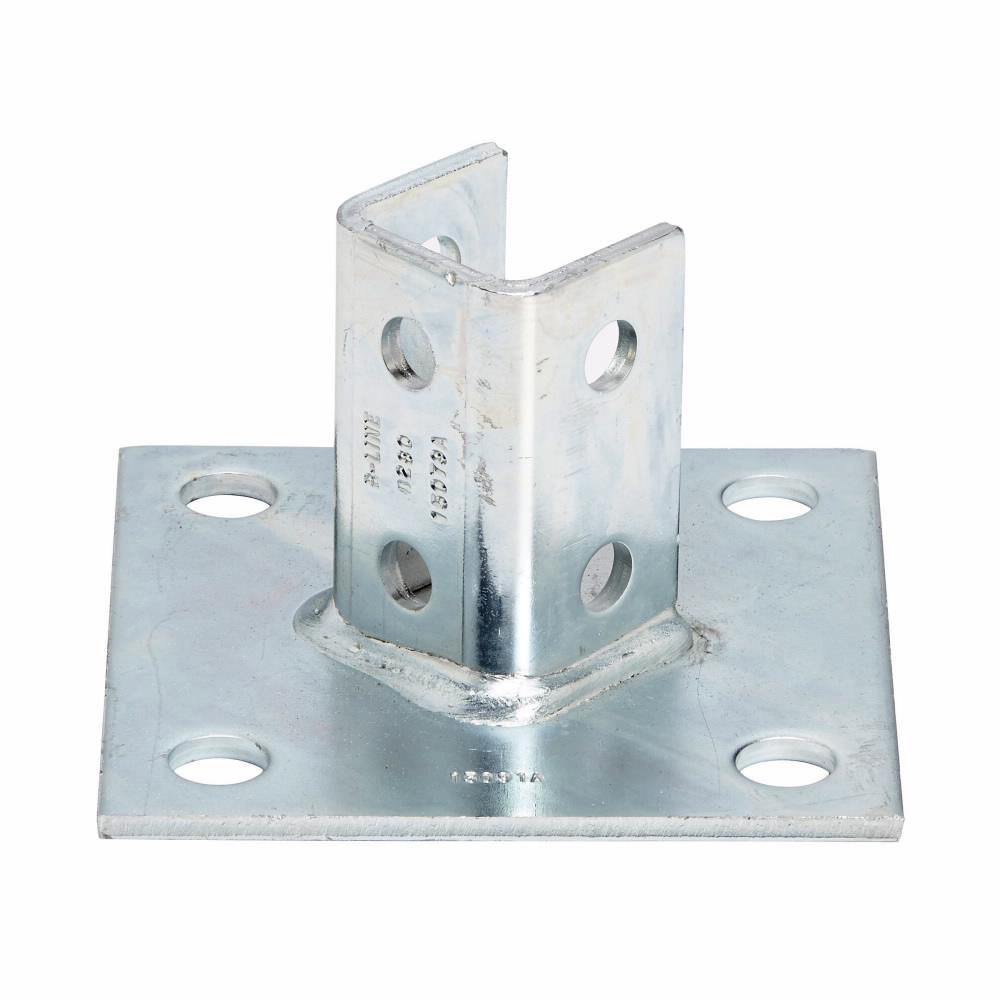 B-Line Series B280AL 6 x 6 x 3-1/2 Inch Aluminum Channel Post Base