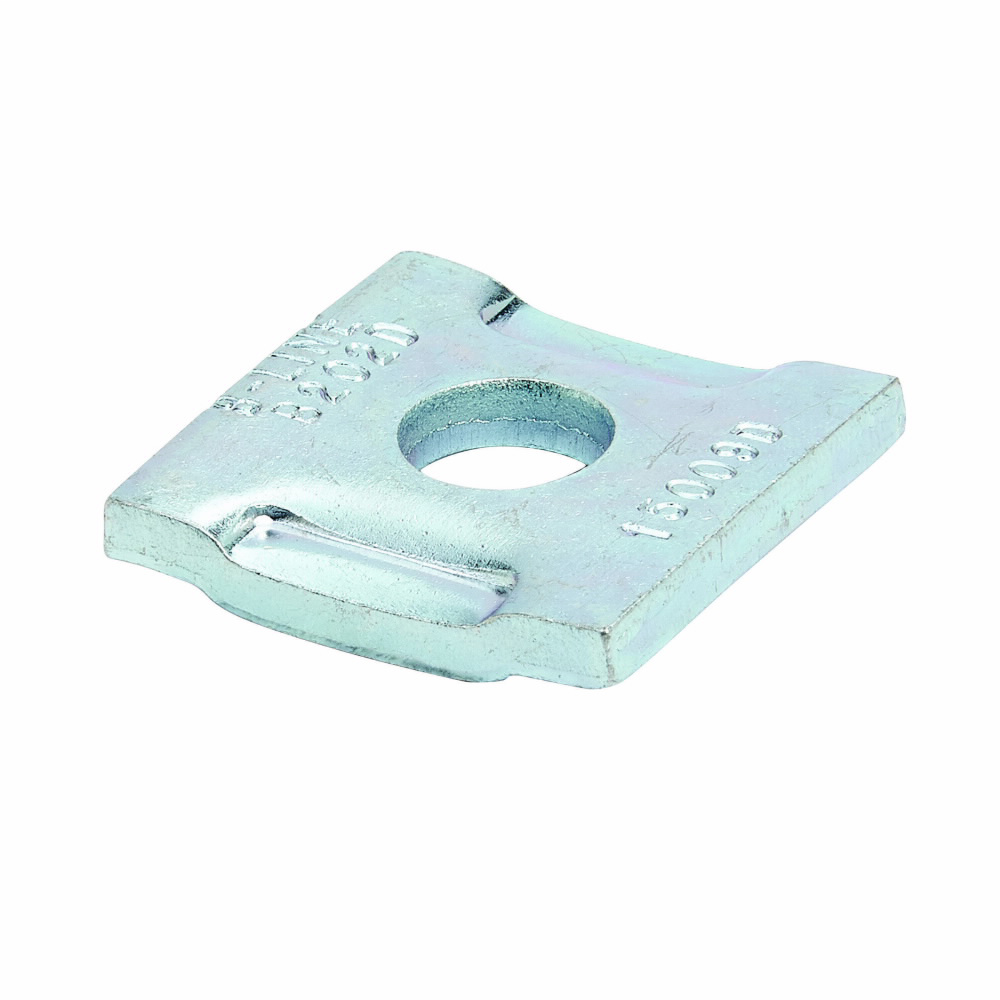 B-Line Series B200DZN 3/8 Inch Hole 5/16 Inch Bolt Zinc Plated No Twist Square Washer