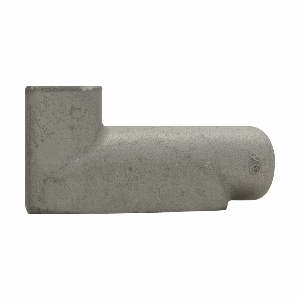 Eaton Crouse-Hinds series Condulet Form 7 conduit outlet body, Copper-free aluminum, LB shape, 2-1/2""
