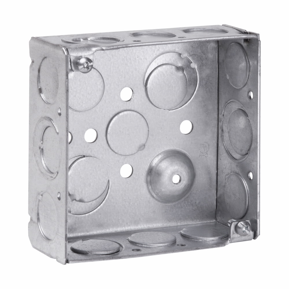 Crouse-Hinds Series TP404 4 x 4 x 1-1/2 Inch Steel Welded Square Outlet Box