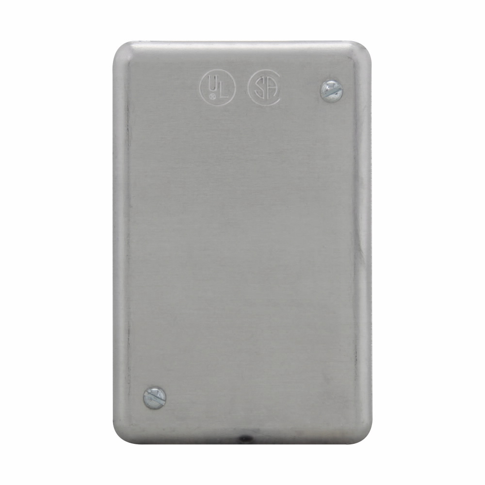 Crouse-Hinds Series DS100 1-Gang Aluminum Surface Mount Blank Device Box Cover
