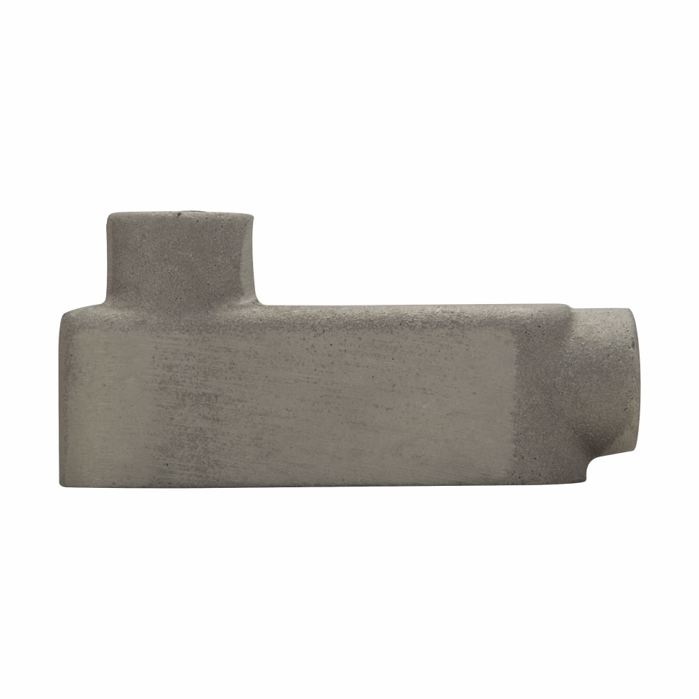 "Mayer-Eaton Crouse-Hinds series Condulet Mark 9 conduit outlet body, Copper-free aluminum, LB shape, 1-1/4""-1"