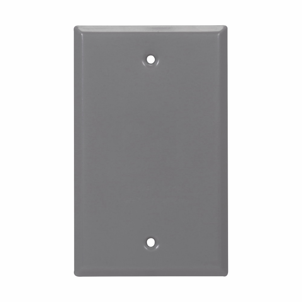 Crouse-Hinds Series TP7293 Steel White 1-Gang Blank Box Weatherproof Outlet Cover with Gasket