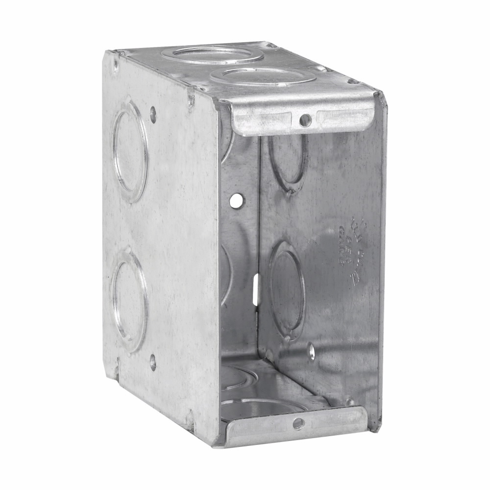 Crouse-Hinds Series TP690 1-5/16 x 3-1/2 x 3-3/4 Inch Steel 1-Gang Masonry Box