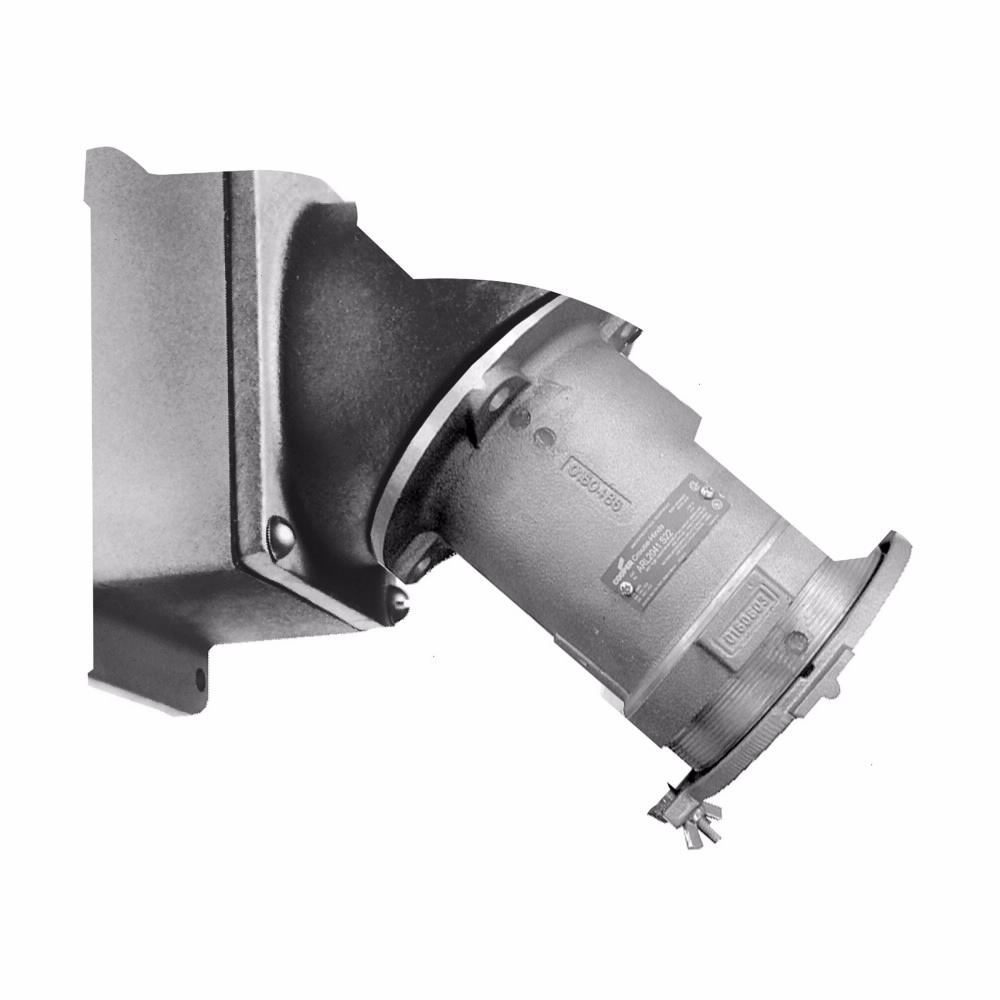 "Eaton Crouse-Hinds series Arktite AREA receptacle assembly, 200A, Four-wire, four-pole, 50-400 Hz, Style 1, Copper-free aluminum, Spring door, Crimp/solder, 2-1/2"", 600 Vac/250 Vdc, 0.75"""