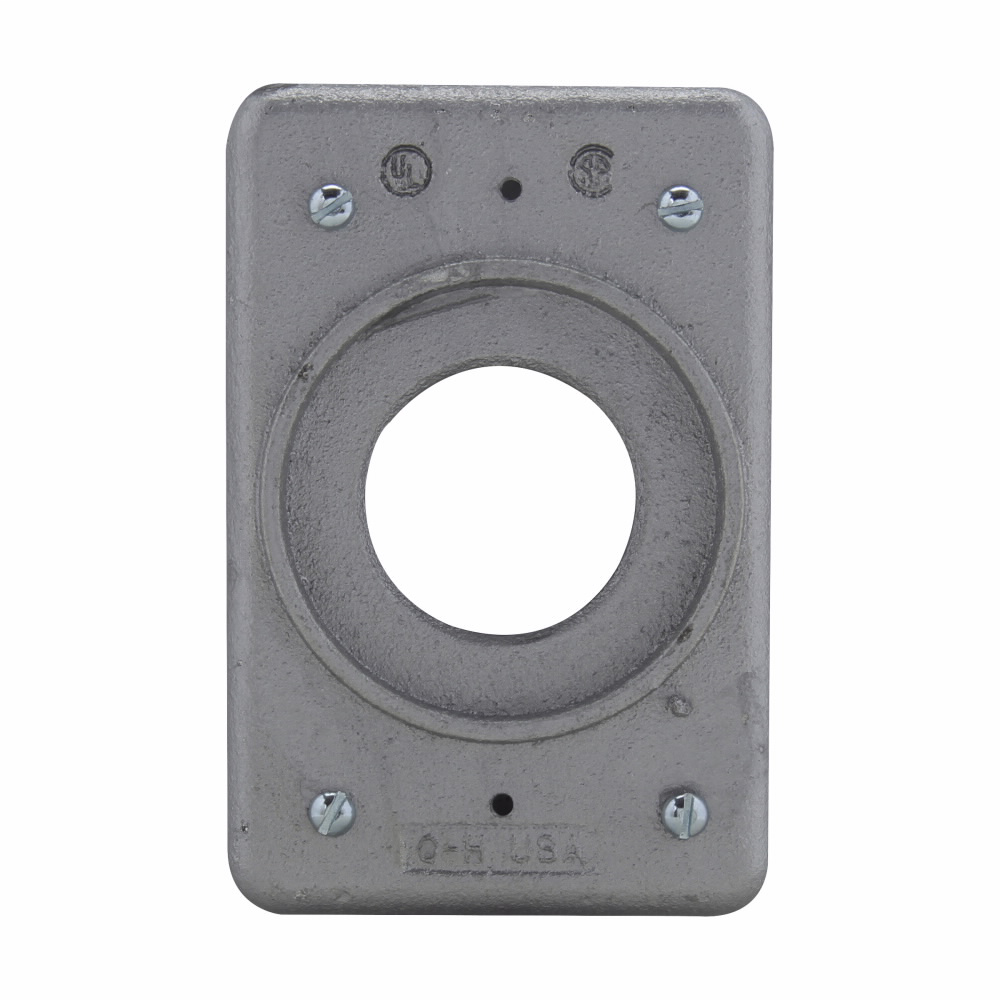 Crouse-Hinds Series DS21G 1-Gang Iron Alloy Surface/Flush Mount Device Box Cover