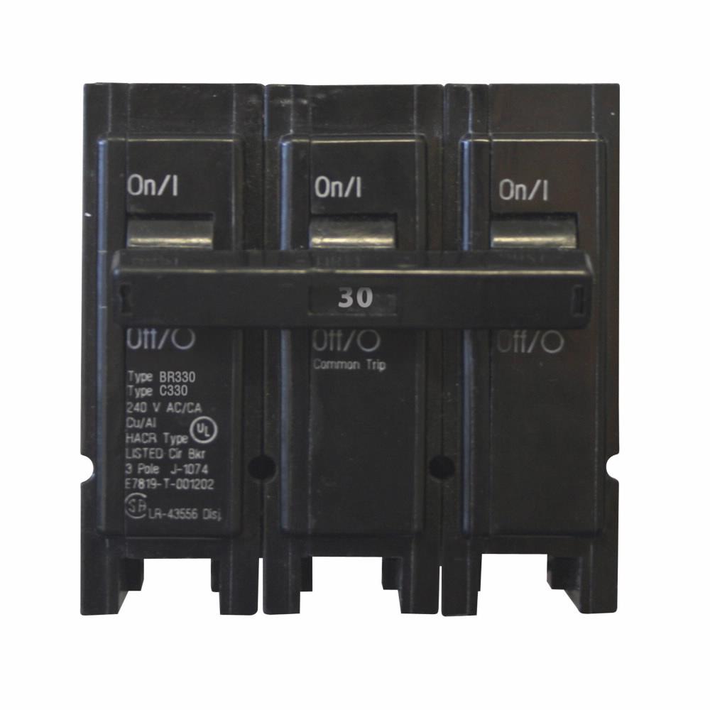 Eaton Electrical BR330 1 Inch Plug-On Circuit Breaker