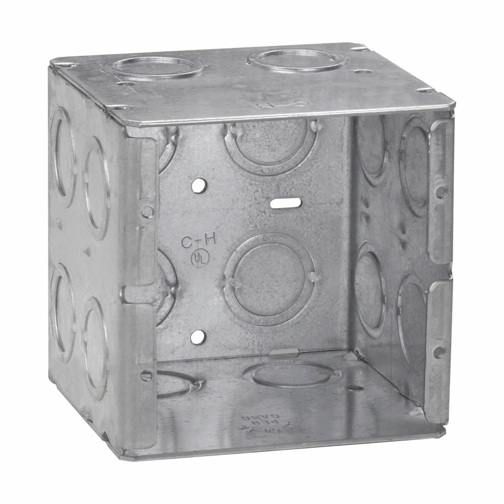 Crouse-Hinds Series TP691 3-3/4 x 3-1/2 x 3-3/4 Inch Steel 2-Gang Masonry Box