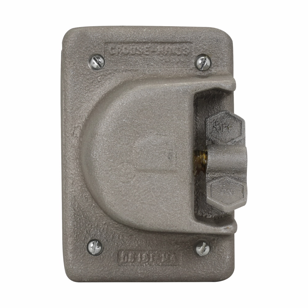 Crouse-Hinds Series DS181 1-Gang On-Off Legend Copper Free Aluminum Device Box Snap Switch