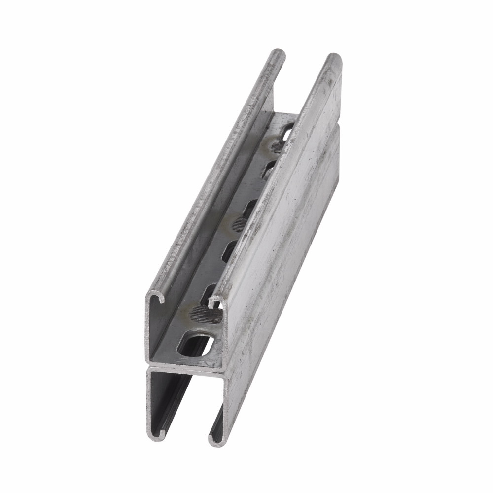 B-Line Series B22Sha-120Hdg 120 x 1-5/8 x 1-5/8 Inch Back to Back 12 Gauge Hot Dip Galvanized Channel