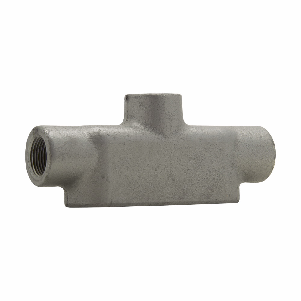 Eaton Crouse-Hinds series Condulet Form 8 conduit outlet body, Feraloy iron alloy, TB shape, 1/2""