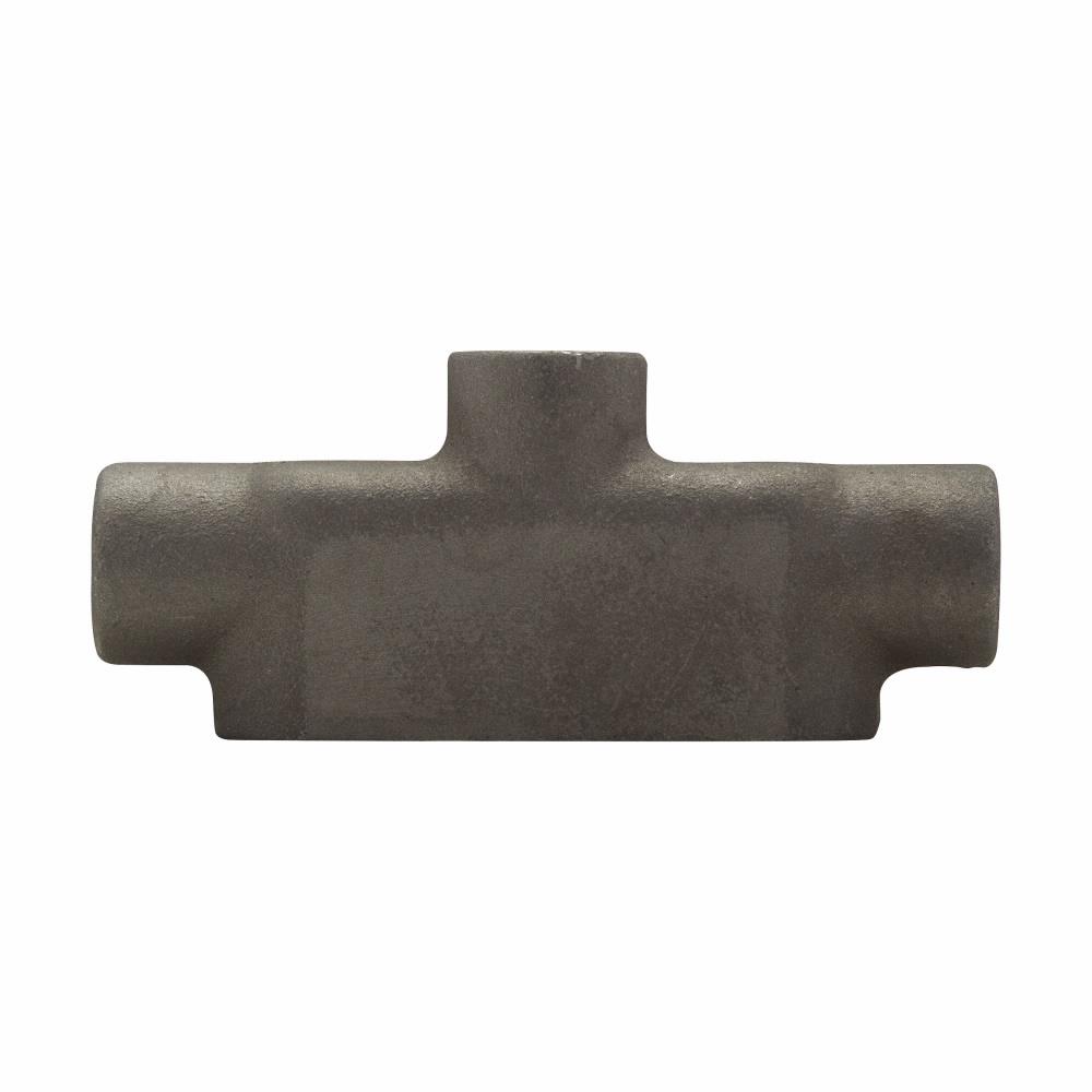 "Mayer-Eaton Crouse-Hinds series Condulet Mark 9 conduit outlet body, Copper-free aluminum, TB shape, 2""-1"