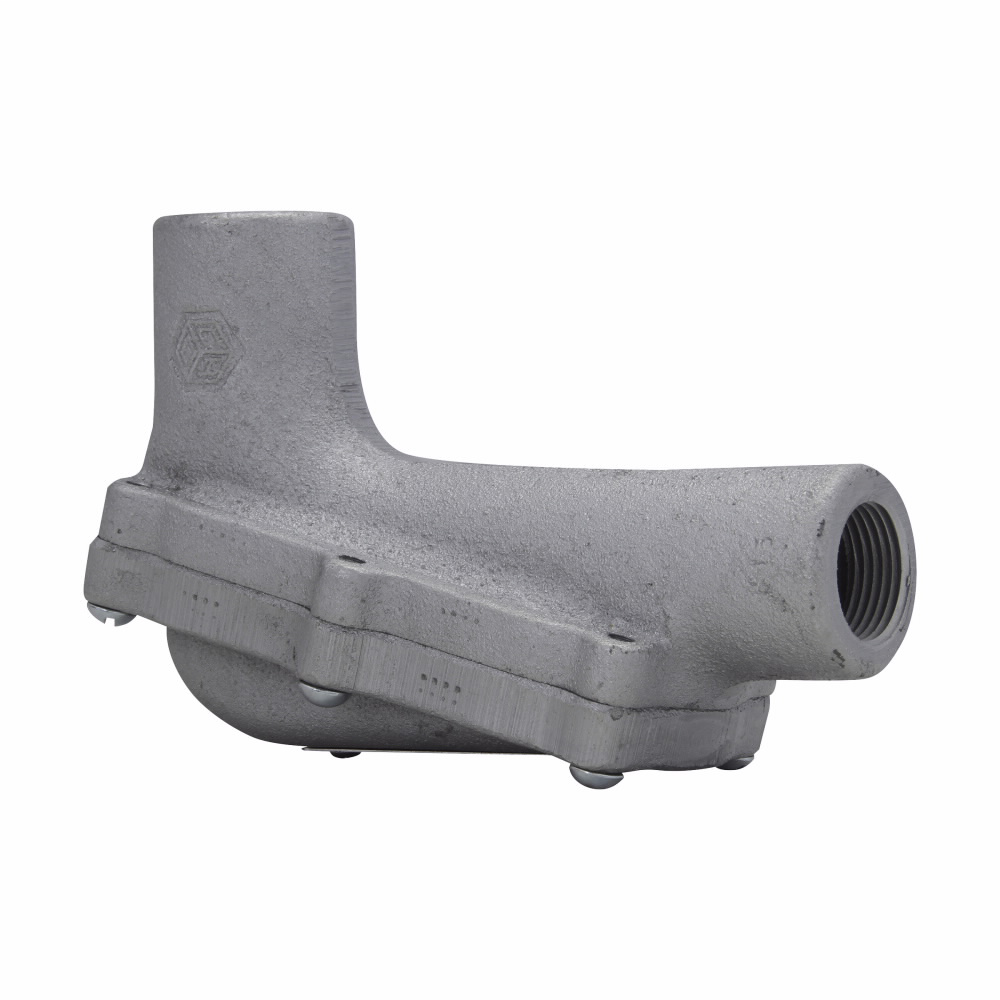 Eaton Crouse-Hinds series Condulet LBH conduit outlet body with cover, Feraloy iron alloy, 3/4""