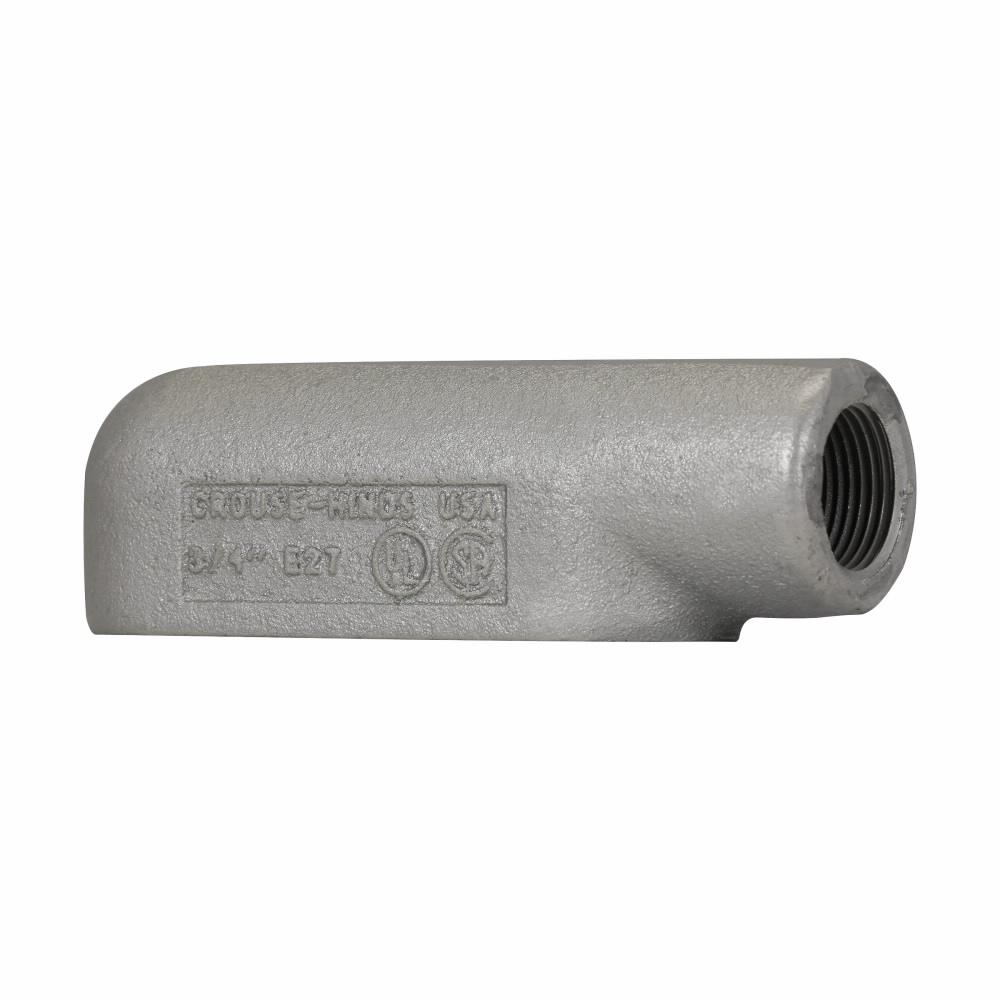 "Eaton Crouse-Hinds series Condulet Form 7 conduit outlet body, Feraloy iron alloy, E shape, 1"""