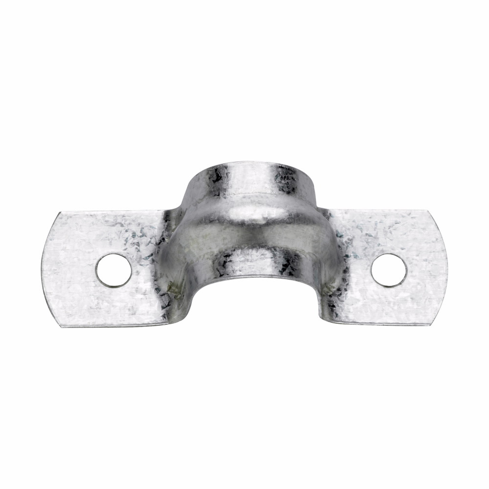 Crouse-Hinds Series 496 7 1-1/2 Inch Steel 2-Hole Rigid Conduit Strap