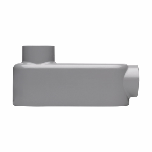 Eaton Crouse-Hinds series Condulet Series 5 conduit outlet body, Rigid/IMC, Copper-free aluminum, LB shape, 2-1/2""