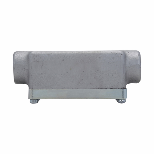 Eaton Crouse-Hinds series Condulet OE conduit outlet body with cover, Feraloy iron alloy, C shape, 1/2""