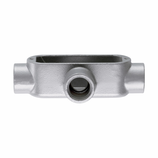 Eaton Crouse-Hinds series Condulet Form 5 conduit outlet body, Malleable iron, X shape, 1""