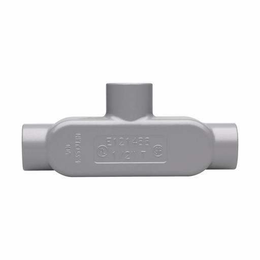 "Eaton Crouse-Hinds series Condulet Series 5 conduit outlet body, Rigid/IMC, Copper-free aluminum, T shape, 1"""