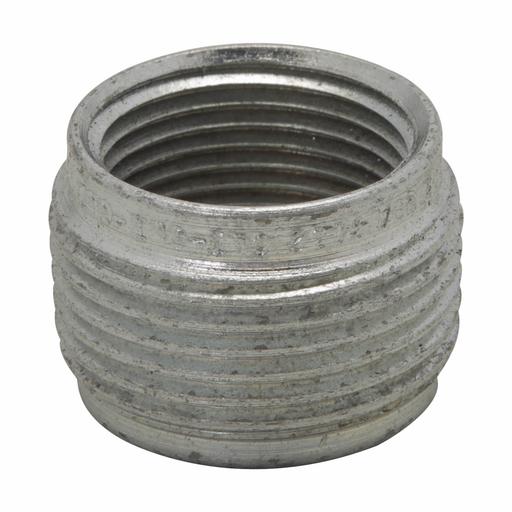 "Eaton Crouse-Hinds series RE reducer, Rigid/IMC, End 1: 1"" NPT, End 2: 3/4"" NPT, Copper-free aluminum"