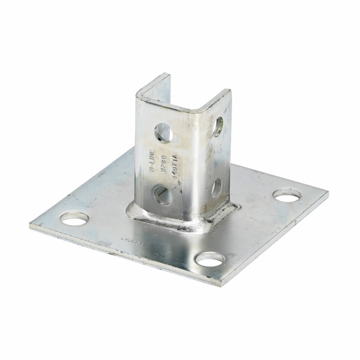 Eaton B-Line series strut fittings and accessories - Length 6 in, Width 6 in, Height 3.5 in - Steel