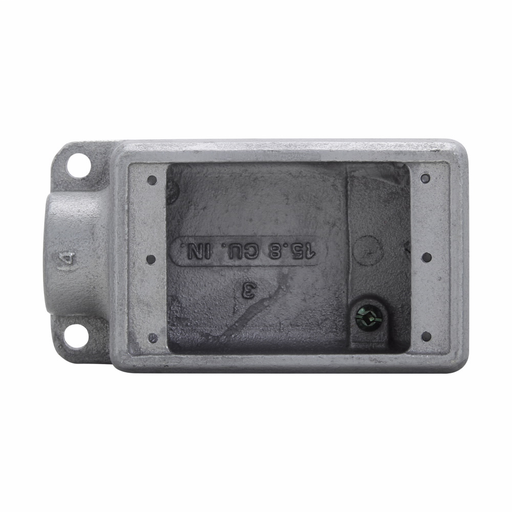"Mayer-Eaton Crouse-Hinds series Condulet FD device box, Deep, Feraloy iron alloy, Single-gang, 3/4""-1"