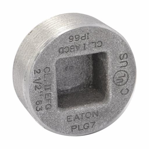 """Eaton Crouse-Hinds series PLG conduit plug, Rigid/IMC, Copper-free aluminum, 3/4"""", Recessed"""