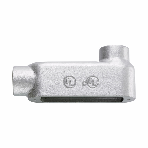 Eaton Crouse-Hinds series Condulet Form 5 conduit outlet body, Malleable iron, LB shape, Built-in rollers, 1-1/2""