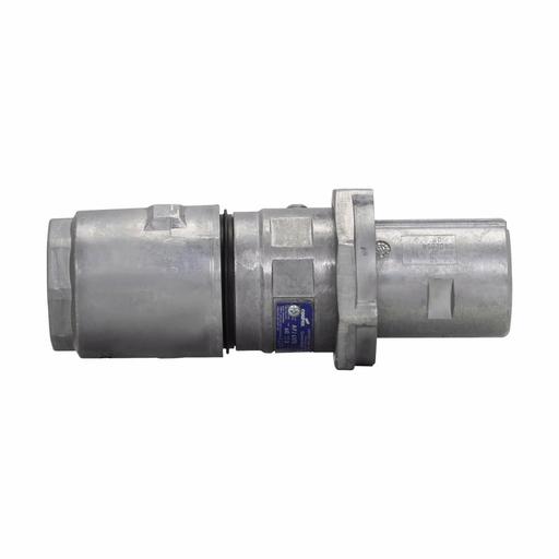 "Mayer-Eaton Crouse-Hinds series Arktite APJ plug, 100A, 0.875-1.70"", Three-wire, four-pole, 50-400 Hz, Style 2, Copper-free aluminum, Plug, 600 Vac,250 Vdc-1"