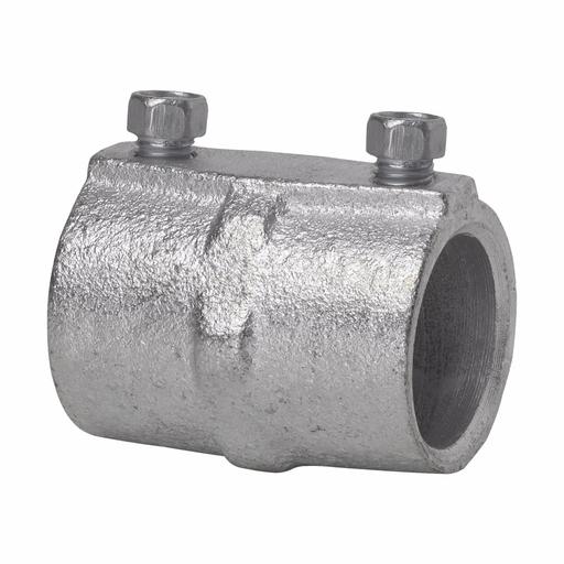 "Eaton Crouse-Hinds series rigid/IMC set screw type coupling, Rigid/IMC, Malleable iron, Four tightening screws, 2"""