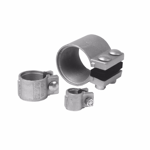 Eaton Crouse-Hinds series TCC split conduit coupling, Rigid/IMC, Ductile iron, Concrete tight, 4""