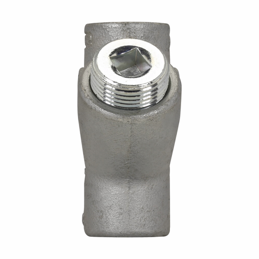 "Mayer-Eaton Crouse-Hinds series EYS conduit sealing fitting, Female, Feraloy iron alloy and/or ductile iron, Vertical only, Group B rated, 3/4""-1"