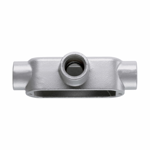 Eaton Crouse-Hinds series Condulet Form 5 conduit outlet body, Malleable iron, T shape, 1-1/4""