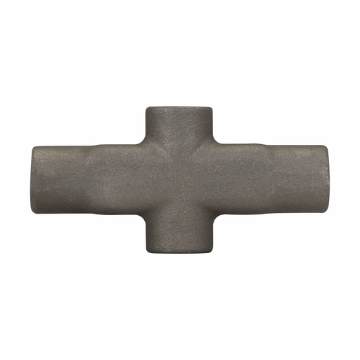 Eaton Crouse-Hinds series Condulet Mark 9 conduit outlet body, Copper-free aluminum, X shape, 1/2""