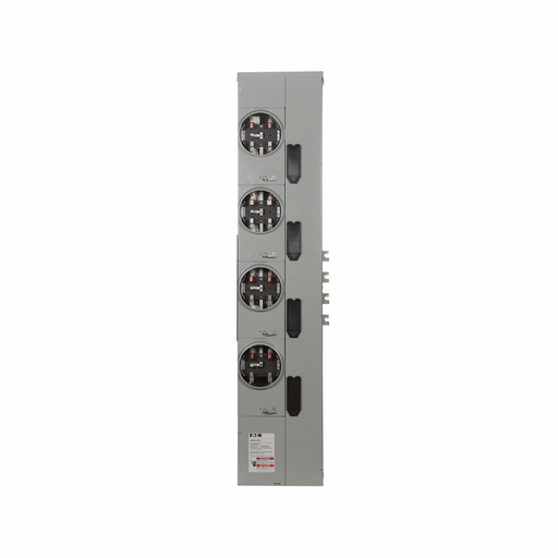 Eaton 3MM residential meter stack, Multiple meter, 200A, Al, Bus:800A, Horn bypass, Outdoor, Depends on selected MCB, 5-jaw, Sockets:4, 3-ph in, 1-ph out, A-B, CCV2_X, CCVH2_X, CVS2_XMM, CV2_XMM, CVH2_XMM, Ringless, Socket:200A, 120/208Vac